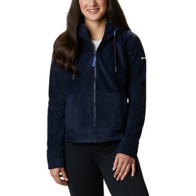Columbia Exploration Capuchon Fleece Jas met Doorlopende Rits Dames, dark nocturnal